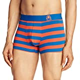 United Colors of Benetton Men's Cotton Trunk (P17DI Blue/Orange S)-902