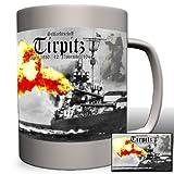 Schlachtschiff Tirpitz Großadmiral Alfred von Tirpitz Bismarck Klasse Schiff Militär Gemälde Portrait -Tasse Kaffee Becher #825