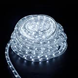 LED Lichterschlauch Lichtschlauch Lichterkette Licht Leiste 36LEDs/M Schlauch für Innen und Außen IP44 12M Kaltweiß