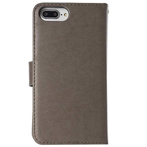 CellularOutfitter Apple iPhone 6 Plus/6s Plus/7 Plus Embossed Cross and Dove Wallet - With Detachable Matching Slim Case, Wristlet - Lavender Gray
