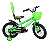 Cosmic Juno 16 inch Kids Bicycle - Black/Green