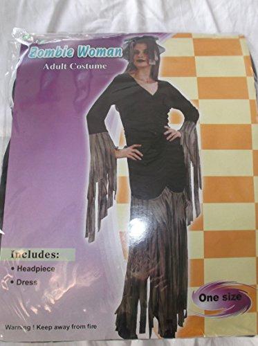 Zombie Frau Erwachsenen-Kostüm-One Size