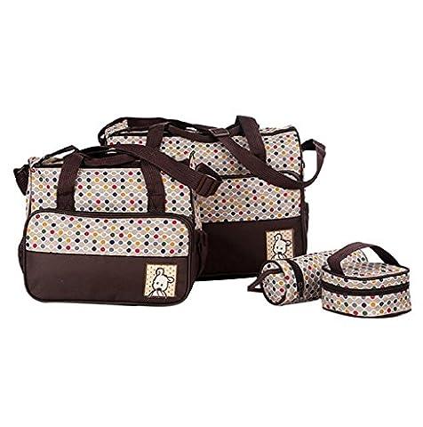 Finerolls 5pcs Baby Nappy Bags Sets bébé sac à langer