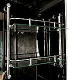 TroniTechnik Dampfdusche Duschtempel Whirlpool Badewanne Komplettdusche Duschkabine Dusche 150×150 schwarz - 5