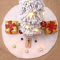 """doublebulls décor Bianca Gonne Per Alberi Di Natale, Decorazioni Natalizie, 100Cm(39.4"""")"""