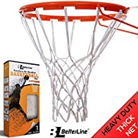 Mejor línea Premium calidad profesional baloncesto Net (all-weather resistente grueso 12Loops), Blanco