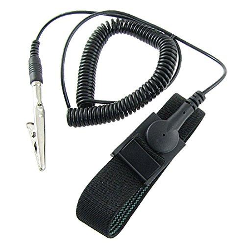 Bracelet - SODIAL(R) Antistatique ESD decharge d¡¯electricite statique bande mise a la terre bracelet noir