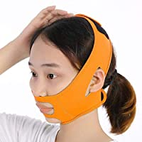 Axjzh Face Bandage Facial Slimming Mask Diving Fabric for Facial Care Thin Neck Face Lift Double Chin for Women Cheek Slimming Chin Cheek Mask,Orange