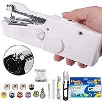 DUTISON Mini Macchina da Cucire Portatile Handheld Cordless Strumento di Cucitura Rapida con 15 PCS Accessori