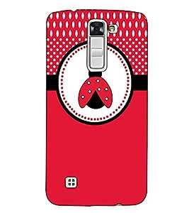 Fuson Designer Back Case Cover for LG K7 :: LG K7 Dual SIM :: LG K7 X210 X210DS MS330 :: LG Tribute 5 LS675 (Red Designer Pattern)