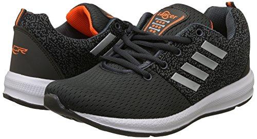 Lancer Men's Grey,Orange Running Shoes-8 UK/India (42 EU) (INDUS-12DGR-ORG-8)