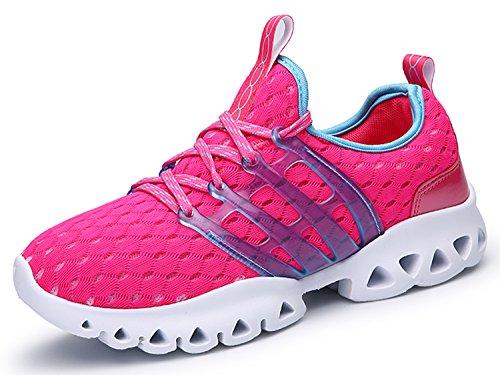 IIIIS-R Uomo Scarpe da Ginnastica Corsa Sportive Running Sneakers Fitness Interior Casual all'Aperto rosa