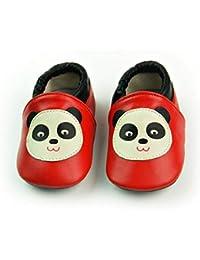 990b2c2747605 VASHCAME-Chaussures Bébé Cuir Souple Chaussons Premiers Pas Respirant pour  Garçon Fille Nourrisson Efant