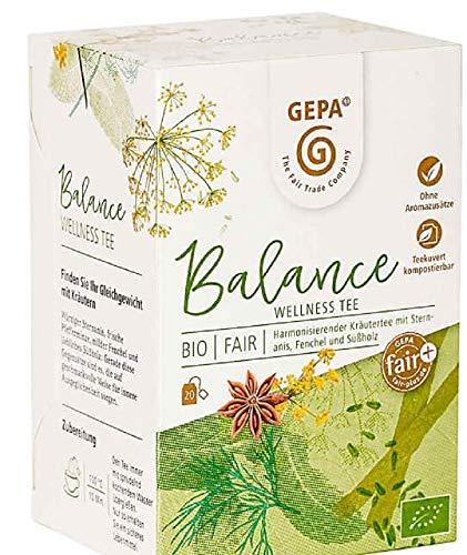 Gepa Bio Balance Wellness Tee - 100 Teebeutel - 5 Pack ( 20 x 1,5g pro Pack)