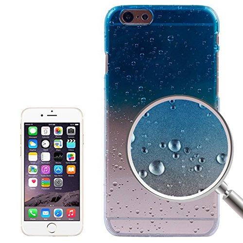 Für IPhone 6 / 6S, Regentropfen Gradient Hard Case DEXING ( Color : Purple ) Blue