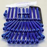 Aluminium Engine Kit Yamaha XV750 Virago Blue
