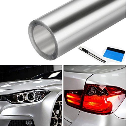 NewL - Pellicola Protettiva Trasparente per Vernice Auto, in Vinile, con spatola 3M e applicatore in Feltro Nero (30cm x 300cm)