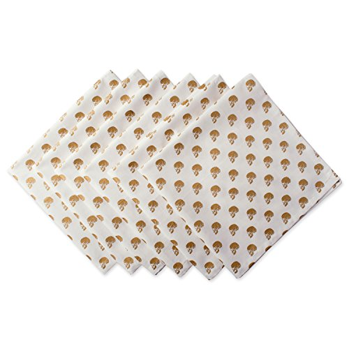 DII Oversized 20x20 Cotton Napkin, Gold Skull - Perfect for Halloween, Dinner Parties and Scary Movie ()