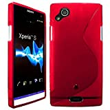 Sony Ericsson Xperia Arc Étui HCN PHONE S-Line TPU Gel Silicone Coque souple pour Sony Ericsson Xperia Arc - ROUGE