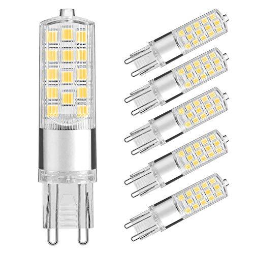 Lightone G9 LED Lampe 5W, Ersatz für 40W G9 Halogenlampen, Warmweiß 3000K, 400Lumen, CRI> 80, 6er Pack -