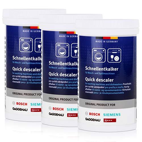 3x BSH Schnellentkalker 250g - für Wasch- und Spülmaschinen, Entkalker
