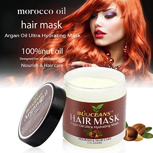 Argania Máscara para pelo,  Cabello Mascarillas,  Hair Mask,  mascara de cabello Profesional,  Reparación Profunda reconstructor instantáneo para cabello dañado,  200 ml