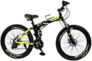 Land Rover X9 Foldable Mountain Bike, Black and Green