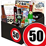 Geschenk zum 50. Geburtstag | DDR Geschenk Box | GRATIS DDR Kochbuch | Männer Set