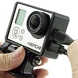 micros2u - Soporte con carcasa protectora para GoPro Hero 3 (White, Silver y Black Edition), peso...