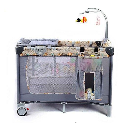 L Y Neugeborenen Kinderbett Multifunktionale Falten Babybett Mode Tragbare Spiel Kind Cradle Senden Spielzeug Geschenke,Khaki