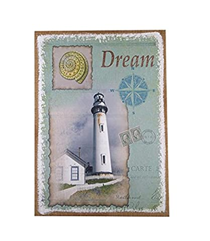 Xiuxiandianju Creative Continental Retro Nostalgia Lighthouse Landscape Painting Hanging Pictures