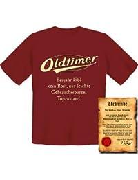 zum 56. Geburtstag Set T-Shirt und Urkunde - OLDTIMER BAUJAHR 1961 - kein Rost nur leichte Gebrauchsspuren Topzustand : )