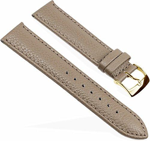 Eulit Fancy Classic Ersatzband Uhrenarmband Rindsleder Band Schlamm 25465G, Stegbreite:16mm