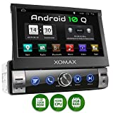 XOMAX XM-VA760 Autoradio con Android 10 I Quad Core, 2GB RAM, 32GB ROM I Navigatore GPS I Supporto WIFI, 4G, DAB, OBD2 I Bluetooth I Touch Screen 7'' I USB, SD, AUX, RDS I 1 DIN