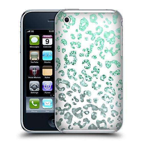 Offizielle Monika Strigel Mint Tier Glitzer Druck Ruckseite Hülle für Apple iPhone 3G / 3GS Grün