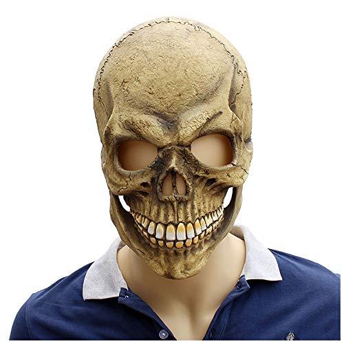 el Maske Skelett Maske Latex Kapuze ()