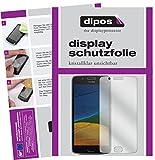 dipos I 2X Schutzfolie klar passend für Motorola Moto G5 Folie Bildschirmschutzfolie