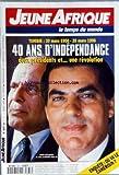 JEUNE AFRIQUE [No 1837] du 20/03/1996 - TUNISIE - 40 ANS D'INDEPENDANCE - HABIB BOURGUIBA ET ZINE EL-ABIDINE BEN ALI - OU VA LE CAMEROUN - ASIE DU SUD-EST - LA GUERRE DE CHINE N'AURA PAS LIEU