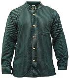 Shoppoholic Fashion Chemise à rayures pour homme Style hippie -  Turquoise - XX-Large