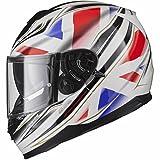 Black Titan SV Union Motorcycle Helmet XL White
