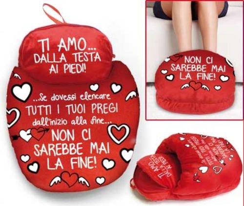Dor fantastico peluche pantofolone in velluto idea san valentino