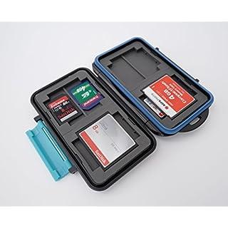Ares Foto® boîtier de protection / Cas pour les cartes de mémoire / stockage pour 8x SD Cards + 4x Compact Flash (CF)
