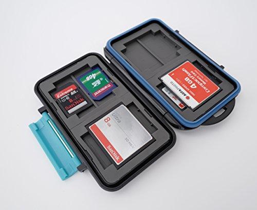Ares Foto® MC-2 Speicherkarten Schutzbox • Memory Card Case • Card Safe • Aufbewahrung & Transport für 8 Stück SD Karten und 4 Stück Compact Flash Karten (CF Cards) 2019 Memory Card Case