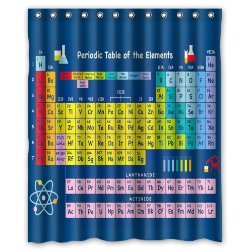 stem der chemischen Elemente Duschvorhang Badezimmer Dekorative 180 x 180 cm (Dekorative Elemente)