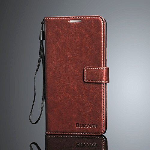 Bracevor HTC Desire 816 816G Premium Leather Wallet Stand Case Flip Cover - Executive Brown