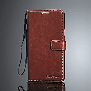 Bracevor HTC Desire 816 816G Premium Leather Wallet Stand Case Flip Cover - Executive Brown