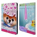 Head Case Designs Offizielle Boo-The World's Cutest Dog Zeit Zum Baden Charakter Kunst Brieftasche Handyhülle aus Leder für iPad Air (2013)