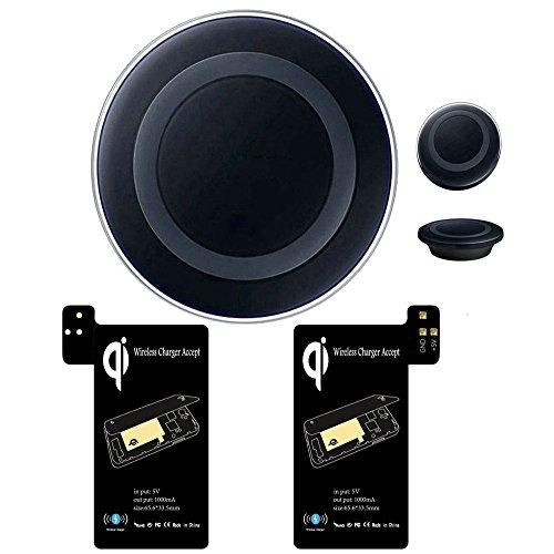 Ularmo Qi Wireless cargador rápido carga Pad receptor central eléctrica Kit para Samsung Galaxy S5