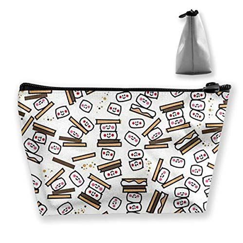 Tiny Smores Repeat Medium Cosmetic Makeup Bag Travel Pouch Carry Case -