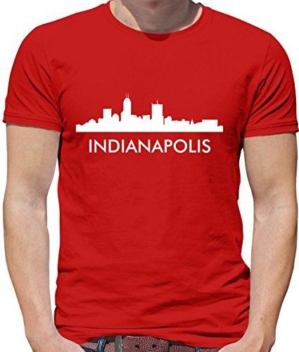 Indianapolis Silhouette - Herren T-Shirt - Rot - XL